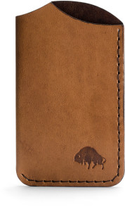 Bison Made No Made in America 1 Front Wallet in Malbec
