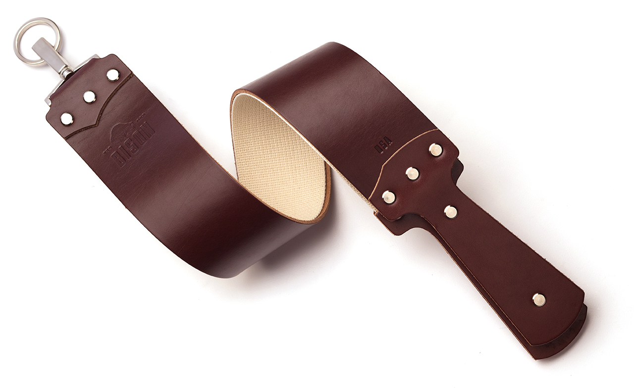 English Bridle Razor Strop in Cognac